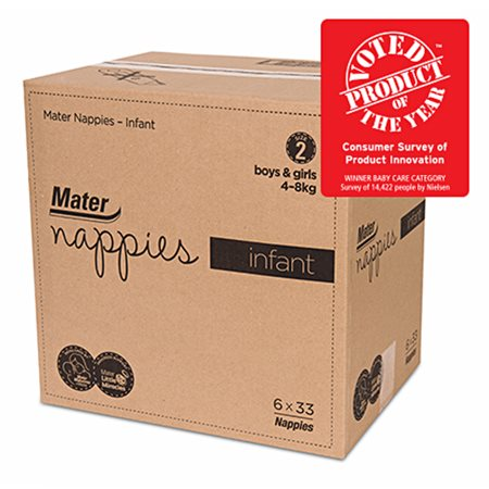 Mater Nappies - Infant Carton