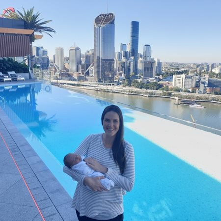 Baby Ava checks in to Emporium Hotel