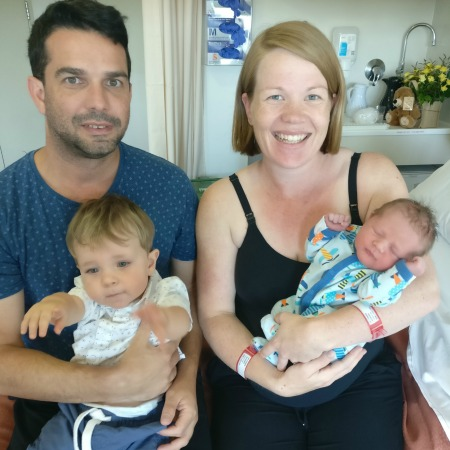 George and Hugo's water births a swimming success