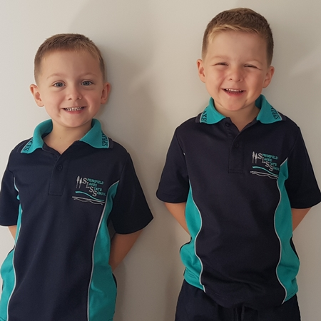 Jonty and Cooper start school
