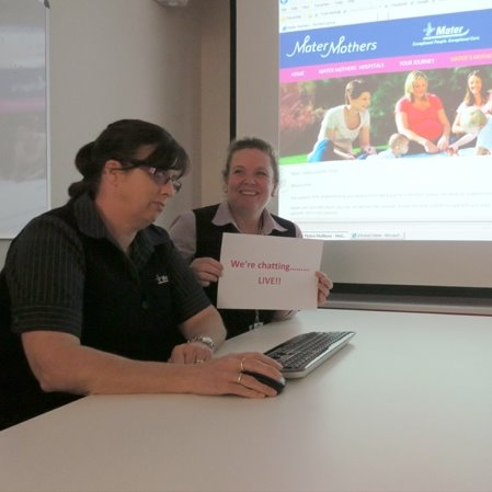 Breastfeeding web chat a great success