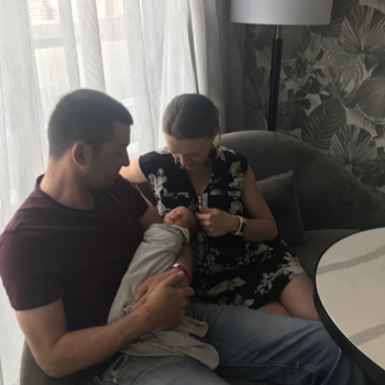 Sam and Melanie enjoy their newborn love bubble at Emporium Hotel South Bank