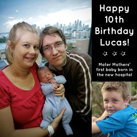Mater Mothers' and Lucas celebrate 10th birthday