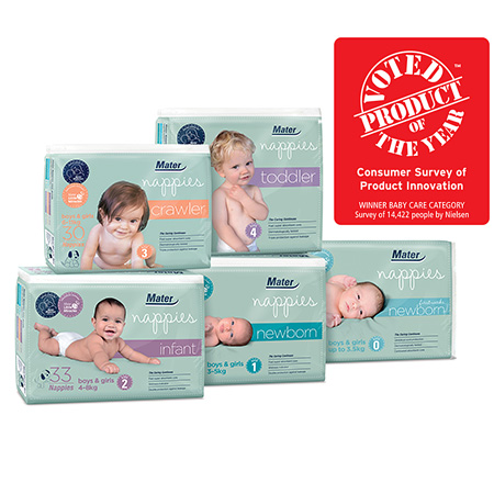 Exclusive online offer—receive a bonus packet of nappies