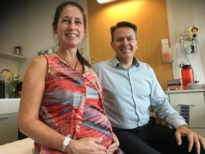 Mater Mothers - Baby born at 37 weeks following in-utero